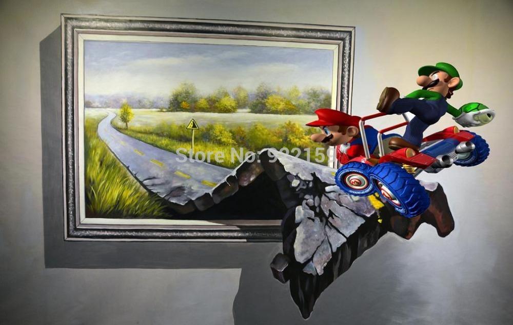 3d canvas wall paintig