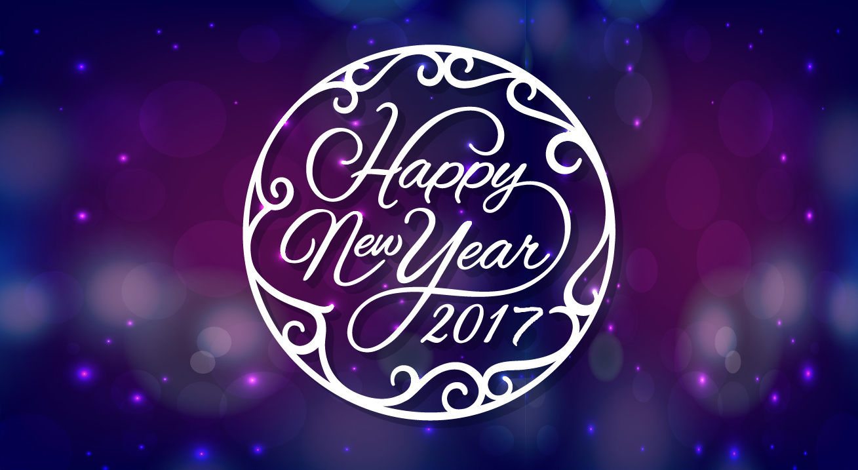 Happy new year circle