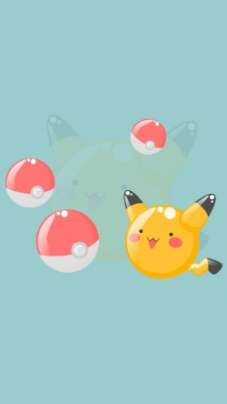Pokemon Go pikachu and pokeballs Iphone hd wallpaper
