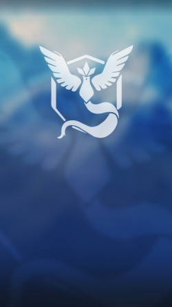 Pokemon Go team mystic logo top Iphone hd wallpaper