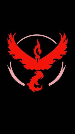 Pokemon Go Team valor black red logo Iphone hd wallpaper