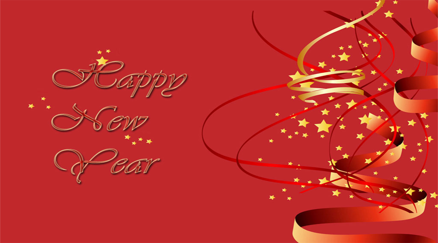 Happy new year background red - Wallect