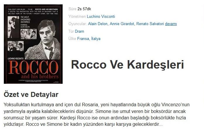 Rocco ve Kardeşleri (Rocco And His Brothers) 1960 Konu Ozeti - barbarus