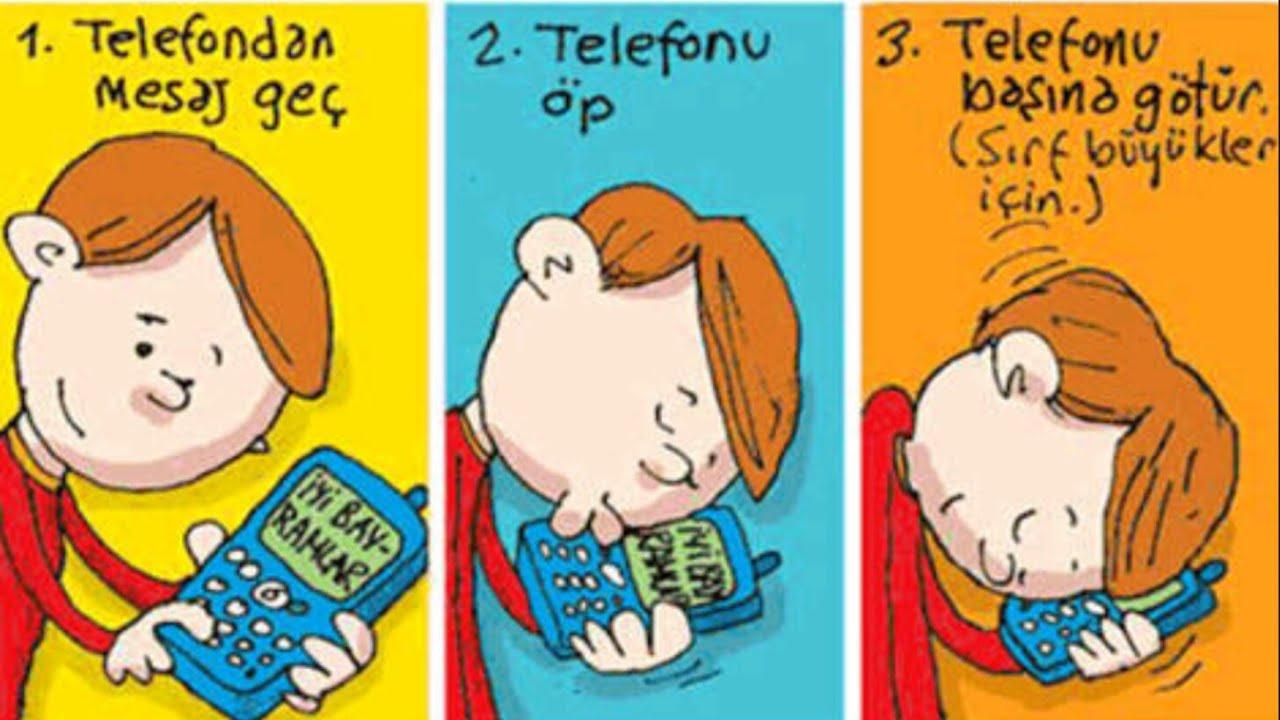 Bayramda telefondan bayramlasmak, komik karikatur sozleri - ryuklemobi