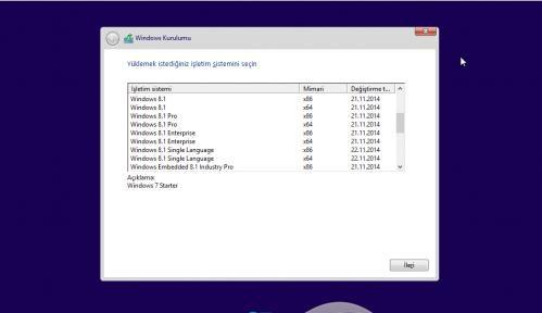 Windows 7 - 8.1 - 10 AIO 39in1 x86 x64 Kasım 2017 Türkçe