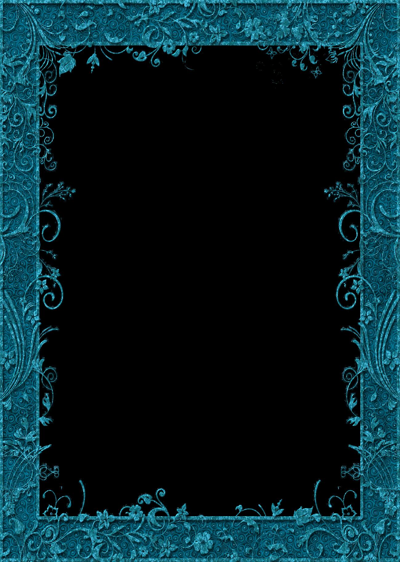 Фото красивые, рамка голубая для открытки