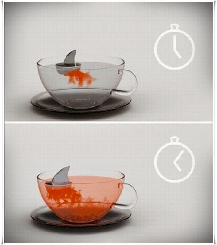 Köpekbalığı bardak demlik