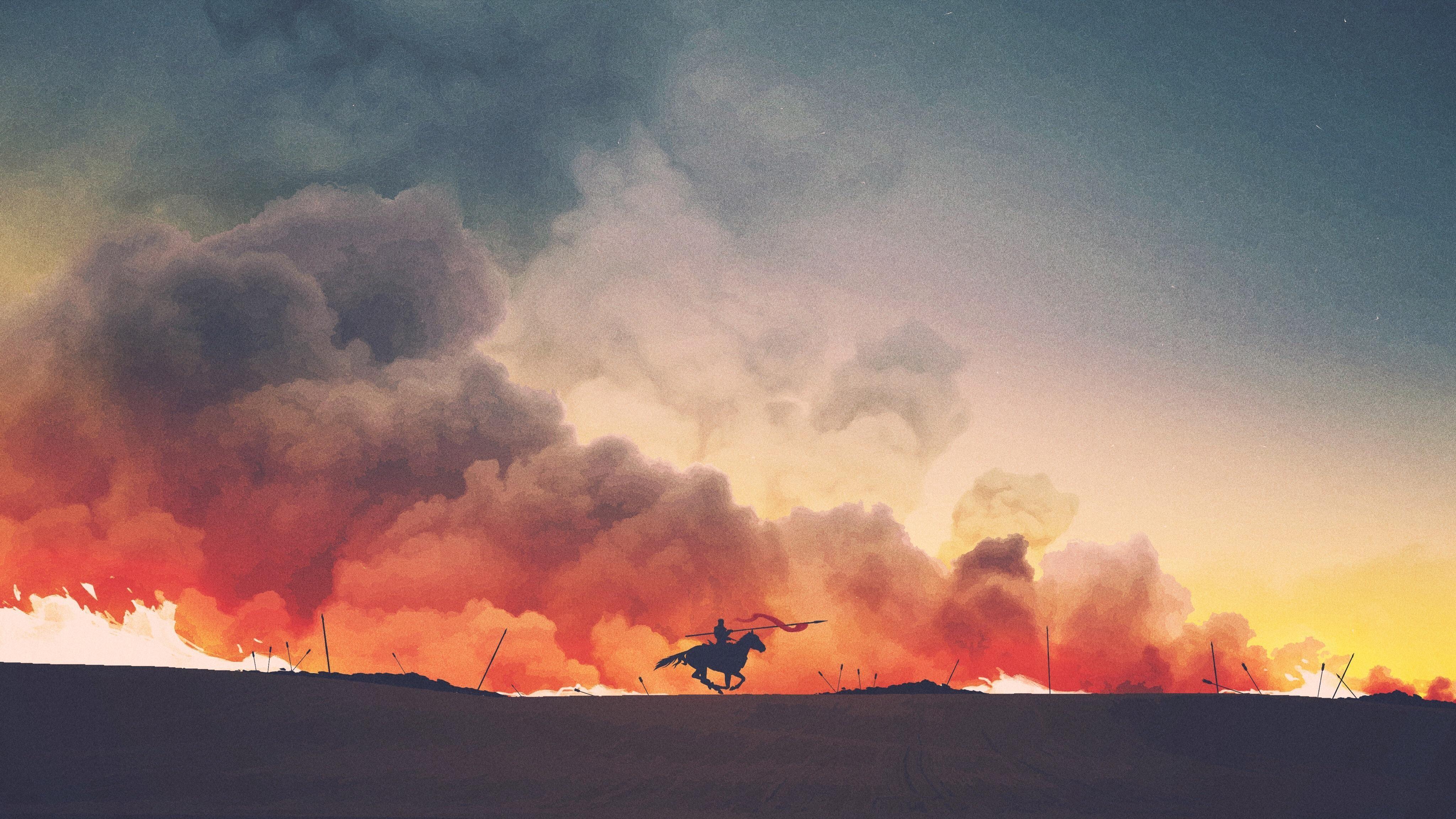 gallop in smoke