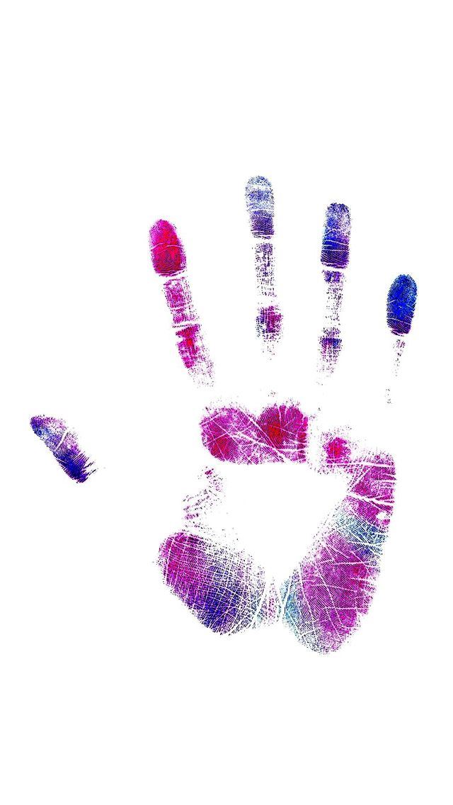 color handprint