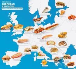 Avrupa sokak yemekleri haritası